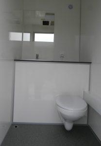 Toilette in beiden Kabinen